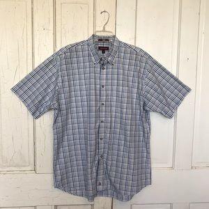 Nordstrom Men's short sleeve plaid shirt